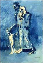 La pauvreté, tableau de Pablo Picasso.